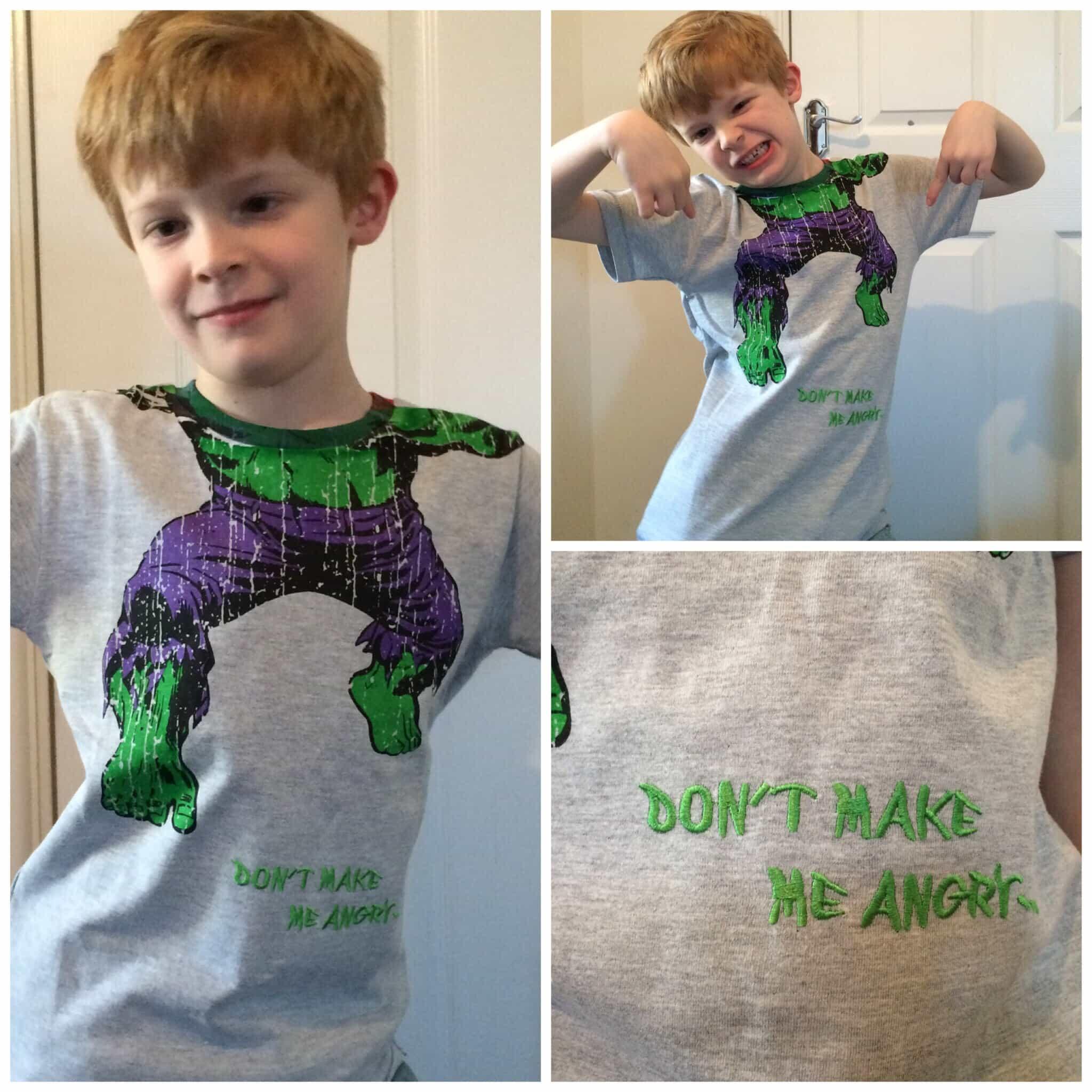 The Incredible Hulk. Don't make me angry