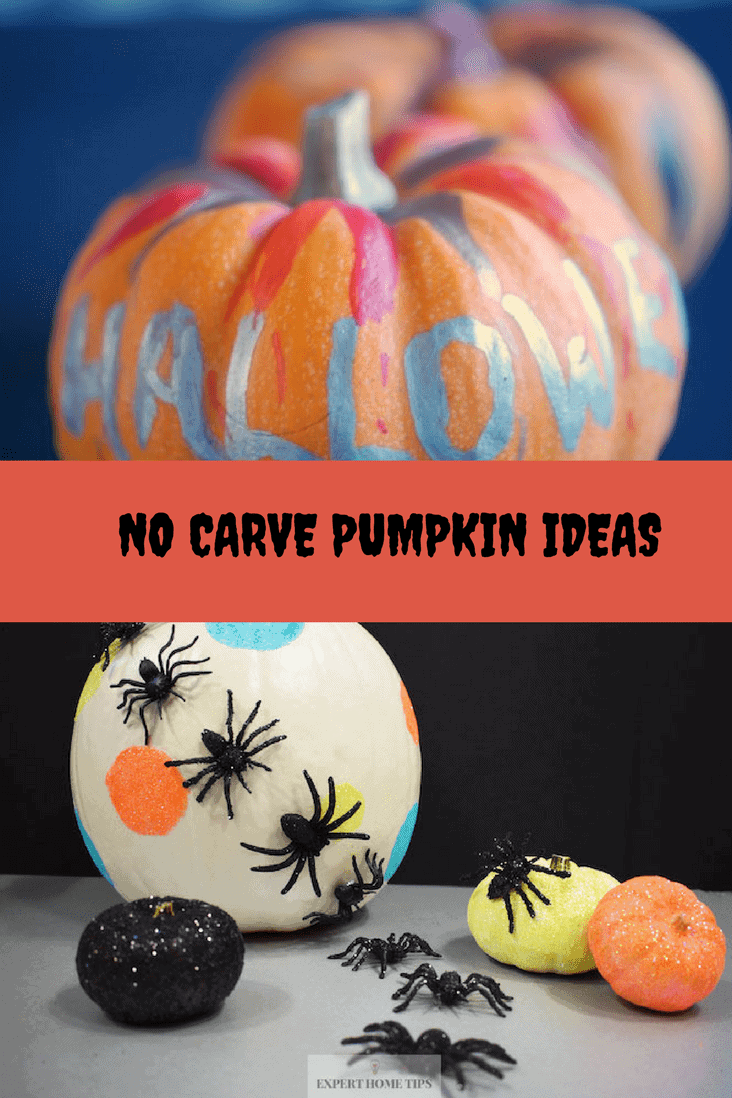 Simple No Carve Pumpkin Ideas