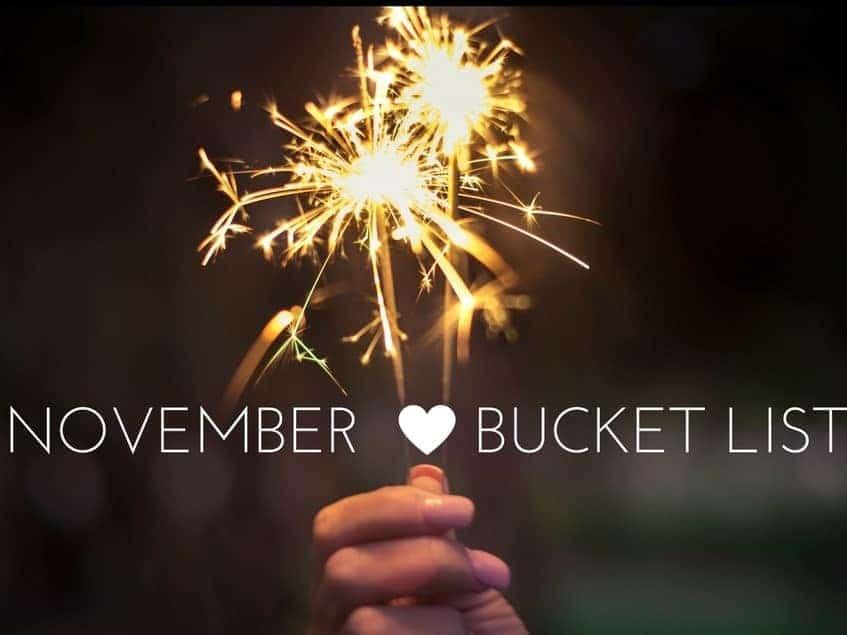Monthly Bucket List – November
