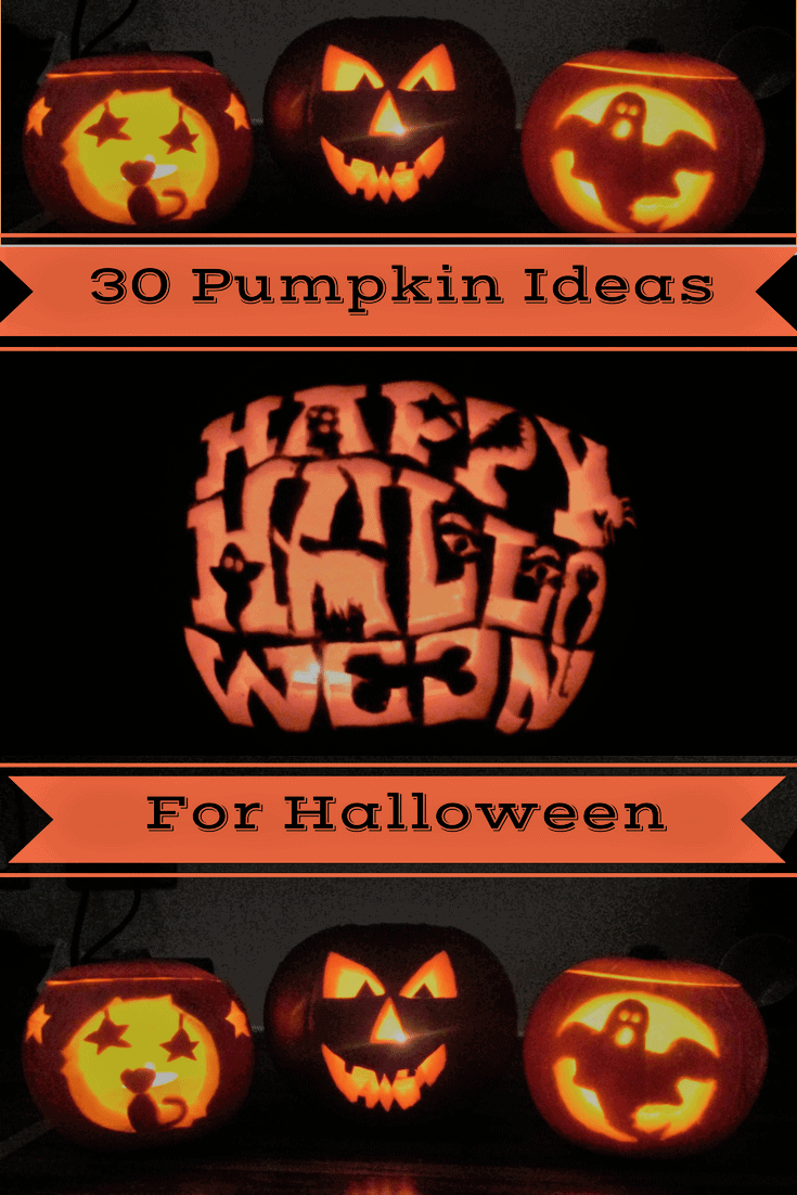 30 Pumpkin Ideas for Halloween